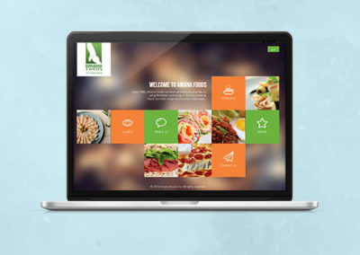 Amana Foods Website Design
