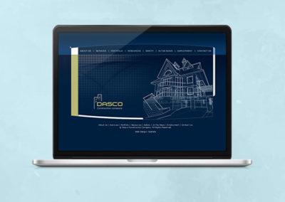Dasco Construction Website Design