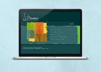 Kurdy Pharma Glass Website Design