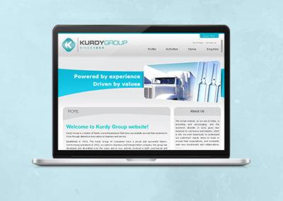 Kurdy Group Website Design